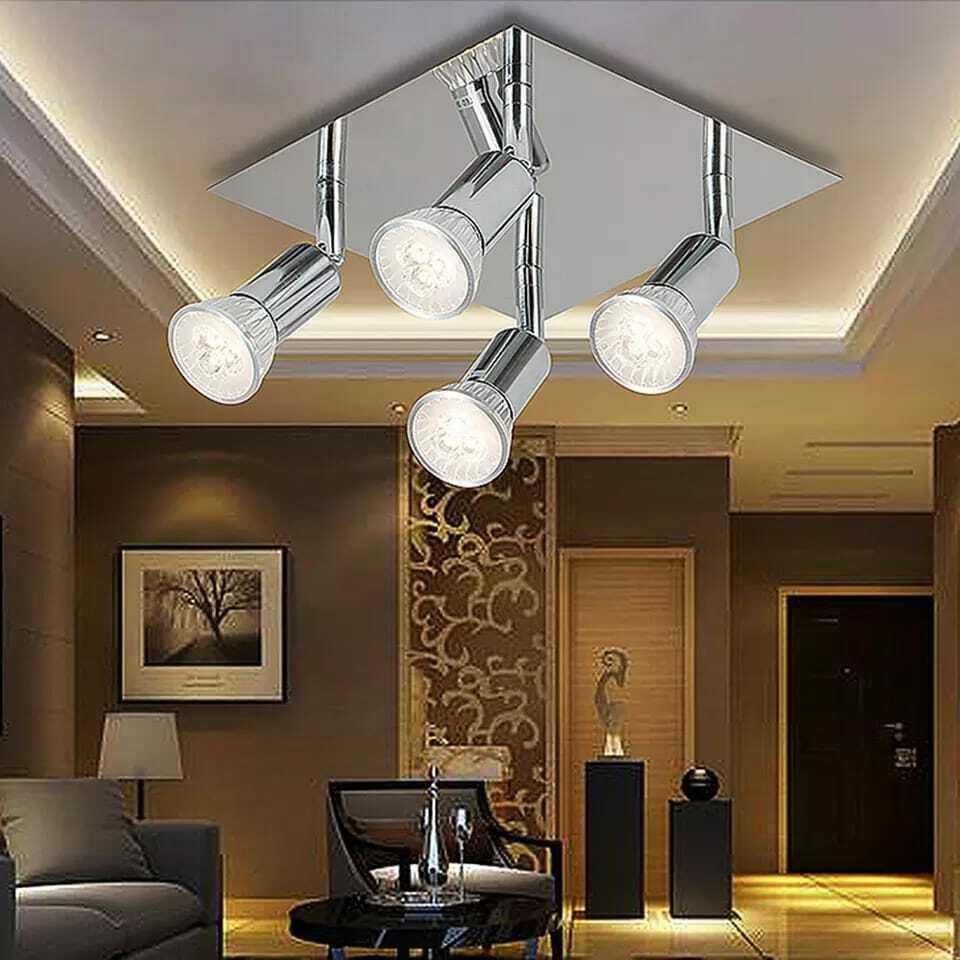 4 way led ceiling lights adjustable spotlight kitchen